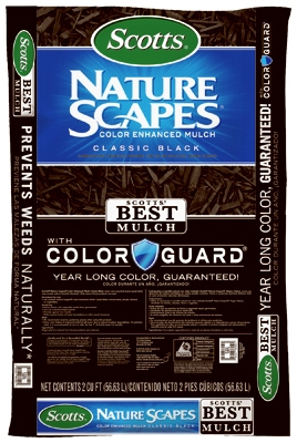 Nature Scapes Color-Enhanced Mulch, Black, 2-Cu. Ft.