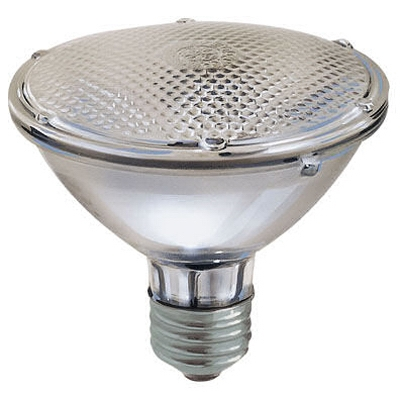 Flood Light Bulb, Halogen, Short Neck, Indoor, Par 30, 38-Watt