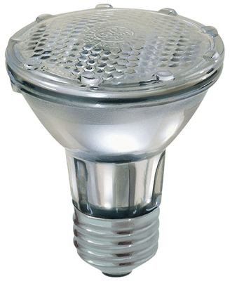 Flood Light Bulb, Halogen, Indoor, Par 20, 38-Watt