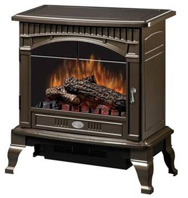 Electric Fireplace Stove, Bronze Finish, 25-In. Width