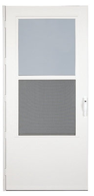 Storm Door, Weartuff Screen, White Duratech, Solid Wood Core, 32 x 81-In.