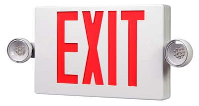LED Exit/Emergency Sign, Battery Back-Up