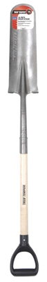 Drain Spade, D-Grip Wood Handle, 16-In.