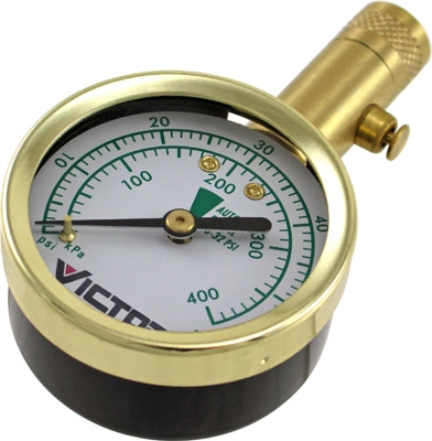 Dial Tire Gauge, 60 PSI