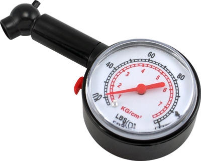 Dial Tire Gauge, 55 PSI