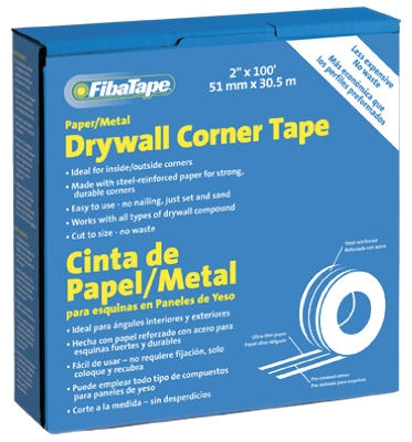 Metal Corner Tape, White, 2-In. x 100-Ft. Roll