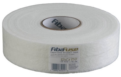 Fibafuse Paperless Drywall Tape, White, 2-1/16-In. x 250-Ft.