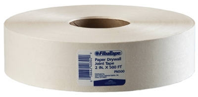 Paper Drywall Joint Tape, White, 2-In. x 500-Ft.