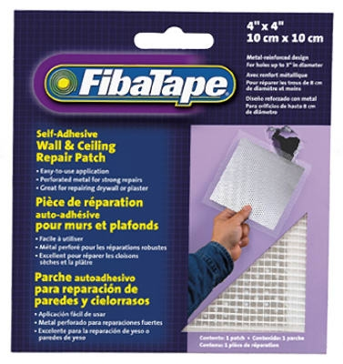 Wall & Ceiling Repair Patch, Perforated Aluminum, 4 x 4-In.