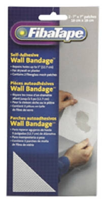 Wall Bandage Repair Patch, White, 7 x 7-In., 2-Pk.