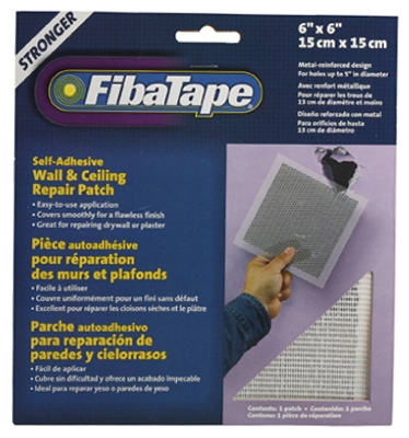 Wall & Ceiling Repair Patch, Perforated Aluminum, 6 x 6-In.