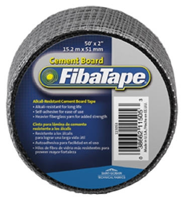 Cement Board Tape, Gray, 2-In. x 50-Ft.