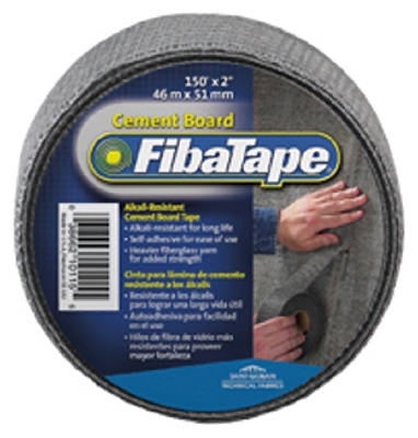 Cement Board Tape, Gray, 2-In. x 150-Ft.