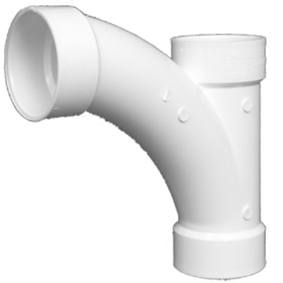 Plastic Pipe Fitting,Combination Tee Wye, PVC 4-In.
