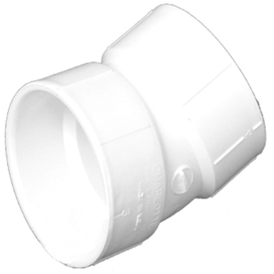 Plastic Pipe Fitting, DWV  Elbow, 22-1/2-Degree, PVC, 1-1/2-In.