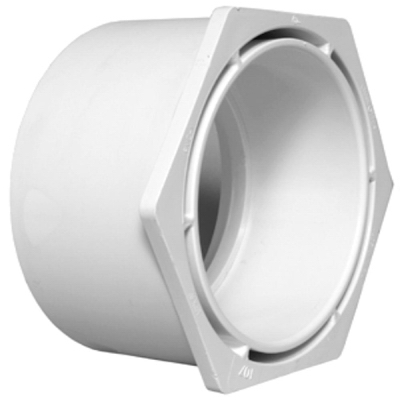 Plastic Pipe Fitting, DWV  Reducing Bushing, 2 x 1-1/2-In.