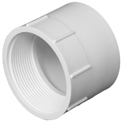 Plastic Pipe Fitting, DWV  Female Pipe Thread Adapter, PVC, 1-1/2-In.