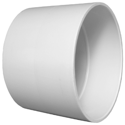 Plastic Pipe Fitting, DWV  Coupling, PVC, 1-1/2-In.
