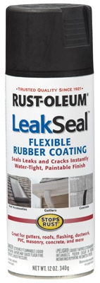 LeakSeal Spray Coating, Black, 12-oz.