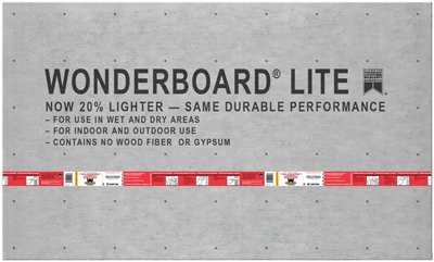Wonderboard Lite, 3 x 5-Ft. x 7/16-In.