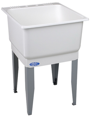 Laundry Tub, White, 23 x 25-In.