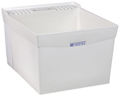 Laundry Tub, Wall-Mount, White, 20 x 24-In.
