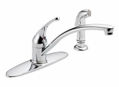 Foundations Kitchen Faucet, Single Handle, With Side Spray, Chrome