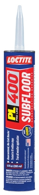 PL 400 Subfloor Adhesive, Heavy-Duty, 10-oz. Cartridge