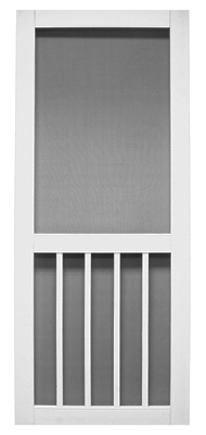 Magnolia Series White Vinyl Screen Door,  31 x 79-1/2-In.