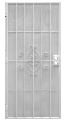 Regal Security Door, White Steel, 32-1/2 x 81-1/2-In.