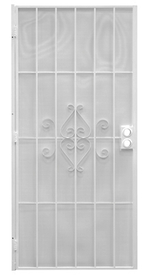 Regal Series Security Door, White Steel, 34.5 x 81.5-In.