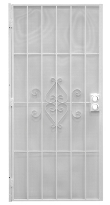 Regal Series Security Door, White Steel, 38.5 x 81.5-In.