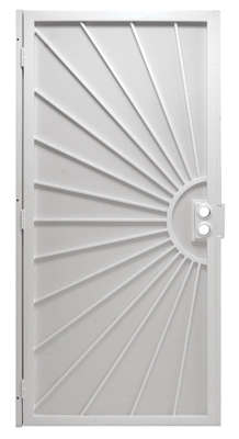 Del Sol Security Door, White Steel, 39 x 81-3/4-In.