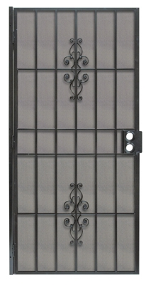 Flagstaff Security Door, Black Steel, 39 x 81-3/4-In.