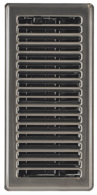 4 x 12-Inch Satin Nickel Plated Contemporary Floor Register