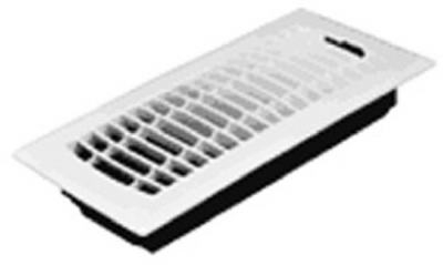 4 x 10-Inch Plastic White Contemporary Floor Register