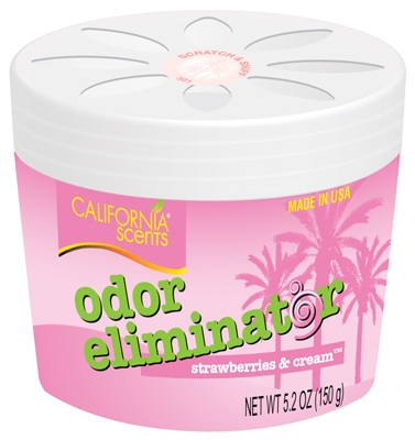 Odor Eliminator, Strawberries & Cream, 5.2-oz. gel
