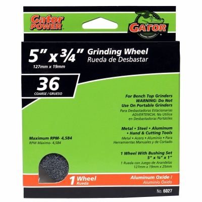 5 x .75 x 1-In. Coarse Grinding Wheel
