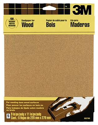 Sandpaper, Garnet Assorted Grit, 9 x 11-In., 5-Pk.