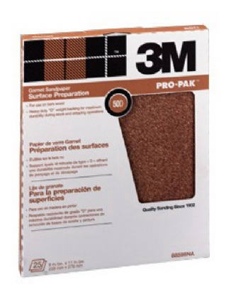 Garnet Sandpaper, 220-Grit, 9 x 11-In., 25-Ct.