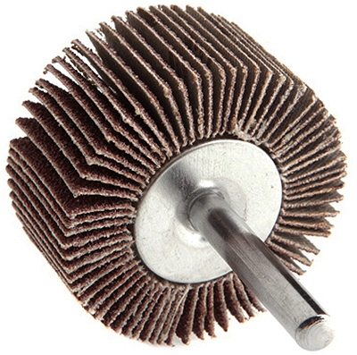 Mounted Flap Wheel, 2 x 1-In., 60-Grit
