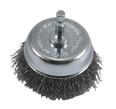 Crimped Wire Cup Brush, 3 x .25 x .012-In.