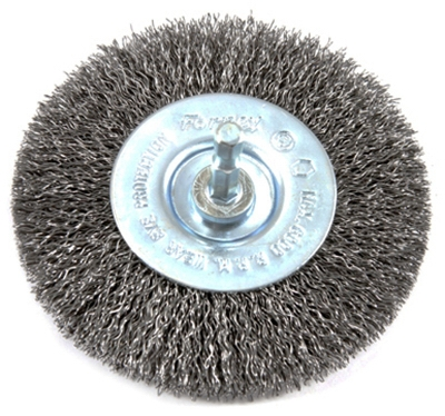Crimped Wire Wheel, 4 x .25 x .012-In.