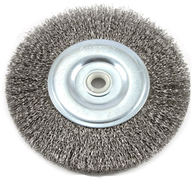 Crimped Wire Wheel Brush, 6-In.