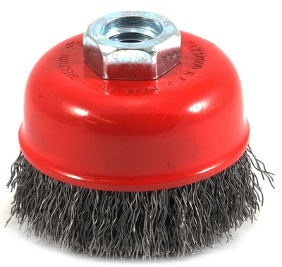 Crimped Wire Cup Brush, 2.75-In.
