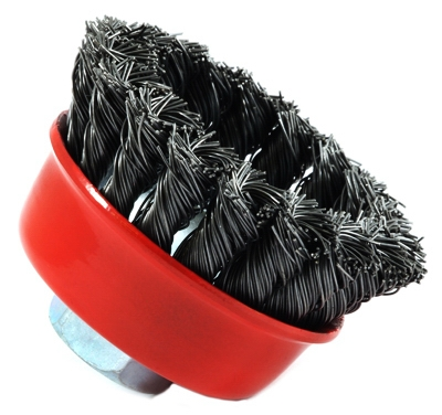 Knotted Wire Cup Brush, 2.75-In.