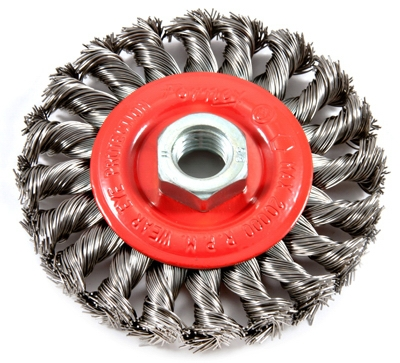Twist-Knot Wire Wheel Brush, 4-In.