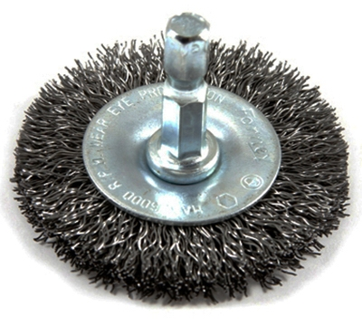 Coarse Crimped Wire Wheel, 2 x .25 x .012-In.