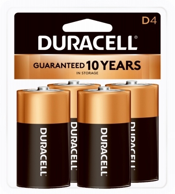 Alkaline Batteries, D, 4-Pk.