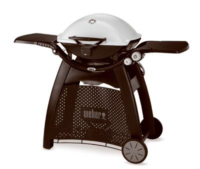 Q-3200 Portable LP Gas Grill, With Cart & Side Tables, 21,700 BTU